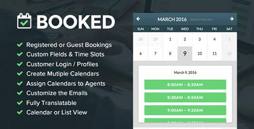 CodeCanyon - Booked Appointments v1.8.01 - Appointment Booking for WordPress - 9466968