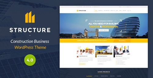 ThemeForest - Structure v4.0 - Construction WordPress Theme - 10798442