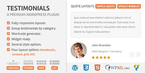 CodeCanyon - Testimoonials Wordpress Plugin v2.2 - 5710957