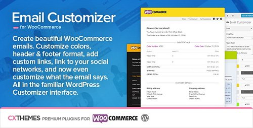 CodeCanyon - Email Customizer for WooCommerce v2.40 - 8654473