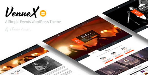 ThemeForest - Venue X v1.4 - Simple Events WordPress Theme - 14754283