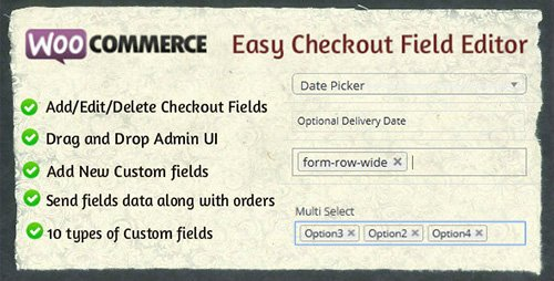 CodeCanyon - Woocommerce Easy Checkout Field Editor v1.2.5 - 9799777