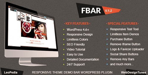 CodeCanyon - FBar v1.5 - Responsive WordPress Demo Switch Bar Plugin - 5117122