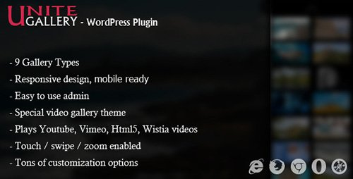 CodeCanyon - Unite Gallery v1.7.22 - Wordpress Gallery Plugin - 10458750