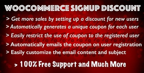 CodeCanyon - Woocommerce Signup Discount v1.5.4 - 9508856