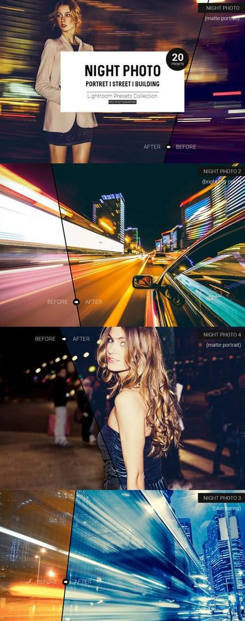 Night Photo Lightroom Presets - 900062