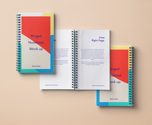 Ringed Paper Notebook Mockup