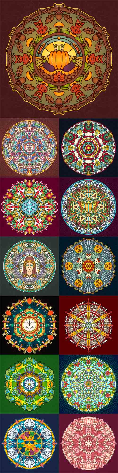 Vector Seasons and Holiday Mandala Design