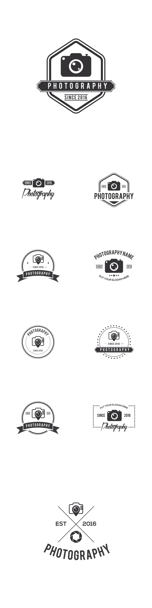Vector Photography Badges Creative Logo Design