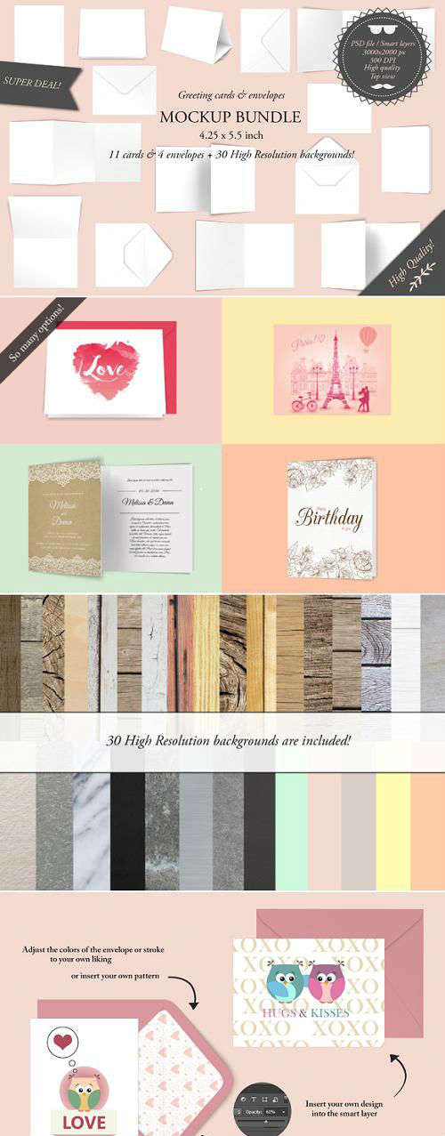 Greeting cards 4.25 x 5.5 - Mockup - 906041
