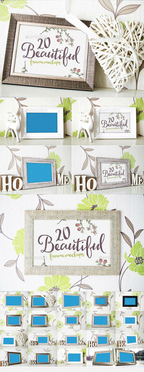 20 Beautiful Frame Mockups - 17020860