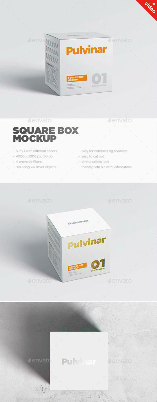 Box / Packaging MockUp - Square - 17626055
