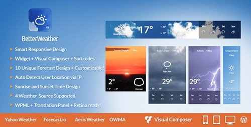 CodeCanyon - Better Weather v3.1 - WordPress and Visual Composer Widget - 7724257