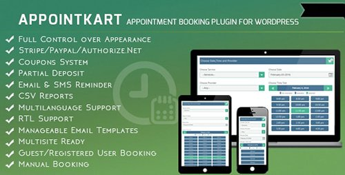 CodeCanyon - Appointment Booking and Scheduling for Wordpress - Appointkart v4.3 - 11262035