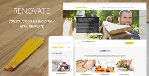 ThemeForest - Renovate v2.2.1 - Construction Renovation Template - 11313006