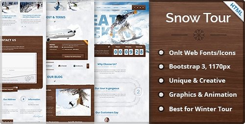 ThemeForest - Snow Tour v1.0 - Responsive Winter Travel HTML Template - 9673570