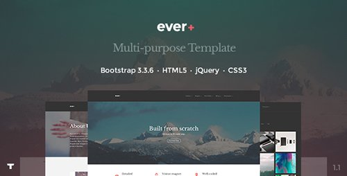ThemeForest - Ever+ v1.1 - Responsive Multi-purpose HTML Template - 14579653