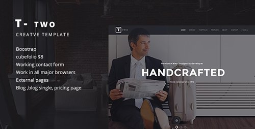 ThemeForest - T- TWO v1.1 - Creative Business Template - 7637488