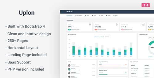 ThemeForest - Uplon v1.4 - Responsive Bootstrap 4 Web App Kit - 16607656