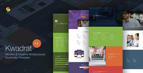 ThemeForest - Kwadrat v1.12 - Creative Multipurpose HTML5 Template - 12296600