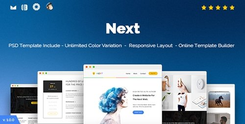 ThemeForest - Next v1.0 - Responsive Email and Newsletter Template - 16875281