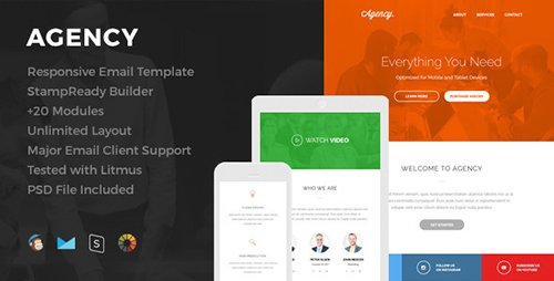 ThemeForest - Agency v1.0 - Responsive Email Template - 13510880