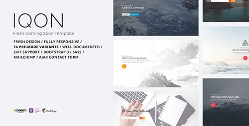 ThemeForest - IQON v1.0 - Fresh Coming Soon Template - 16365153
