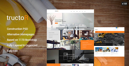 Tructor - Construction PSD Template 10589161