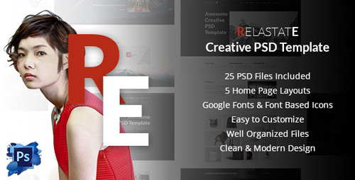 Relastate - Creative Digital Agency PSD Template 17085848