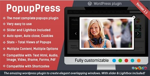 CodeCanyon - PopupPress v2.5.4 - Popups with Slider & Lightbox for WordPress - 5197157