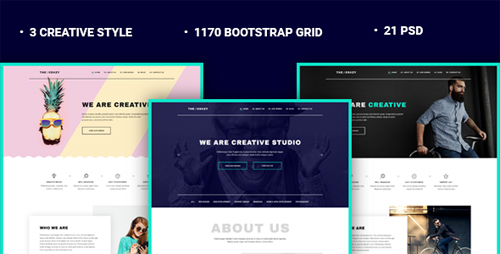 The Crazy - Creative Agency PSD Template 15434585