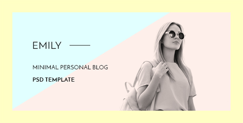 Emily - Personal Blog PSD Template 15530200