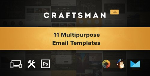 ThemeForest - Craftsman v1.0.1 - Email, Eshot, Notification Template - 12436306