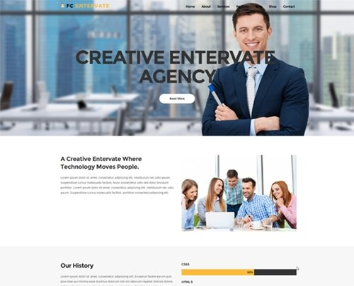 FC Entervate Business template - CM 941939