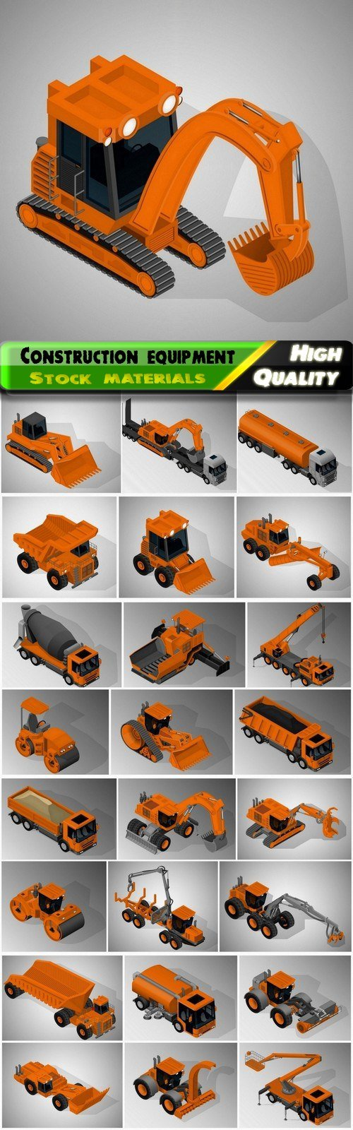 Agricultural and construction equipment and vehicles - 25 Eps