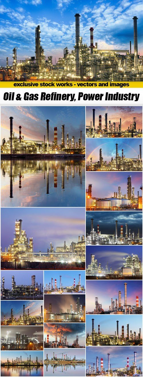 Oil & Gas Refinery, Power Industry - 19xUHQ JPEG