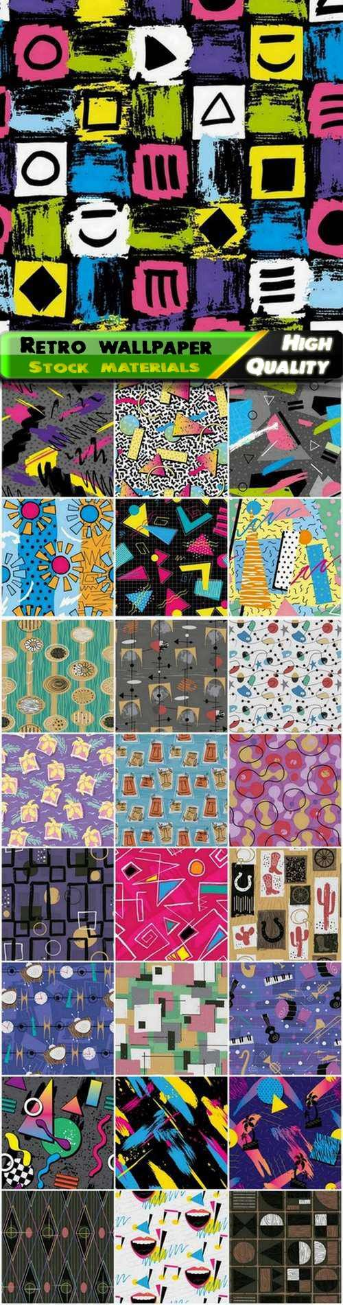 Retro style seamless pattern for wallpaper or textile design - 25 Eps