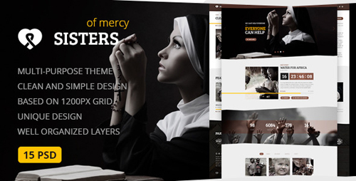 Sisters of Mercy — Nonprofit PSD Template 12366101