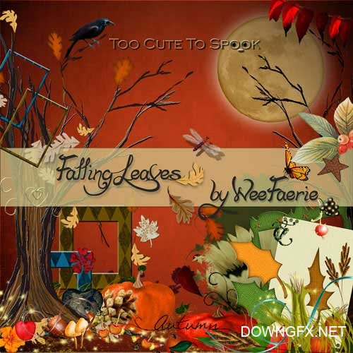 Scrap kit - Falling Leaves