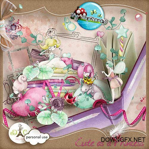 Scrap kit - Cute as a Princess