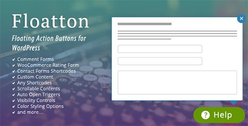 CodeCanyon - Floatton v1.0 - WordPress Floating Action Button with Pop-up Contents for Forms or any Custom Contents - 17199748