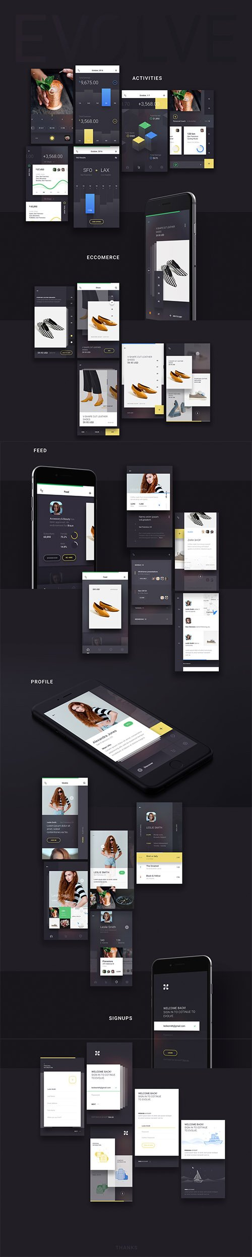 EVOLVE - The ultimate step in iOS mobile UI kit evolution