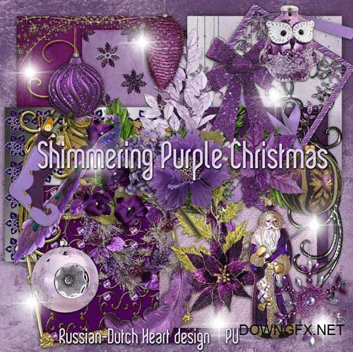 Scrap kit - Shimmering Purple Christmas