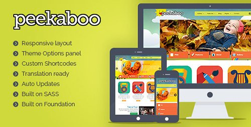 ThemeForest - Pekaboo v2.11.1 - Children WordPress Theme - 409980