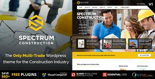 ThemeForest - Spectrum v2.0.3 - Multi-Trade Construction Business Theme - 10259946