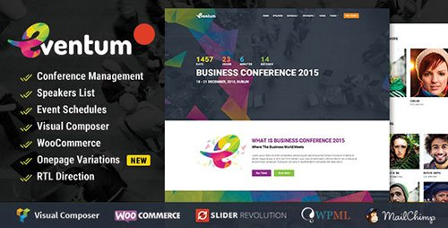 ThemeForest - Eventum v1.5 - Conference & Event WordPress Theme - 12943209