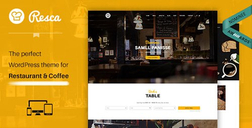 ThemeForest - WordPress Restaurant Theme - Resca v2.0.8 - 12124219