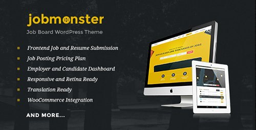 ThemeForest - Jobmonster v4.0 - Job Board WordPress Theme - 10965446