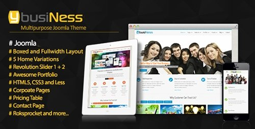 ThemeForest - YbusiNess v2.0 - Responsive Joomla Business Template - 5230566