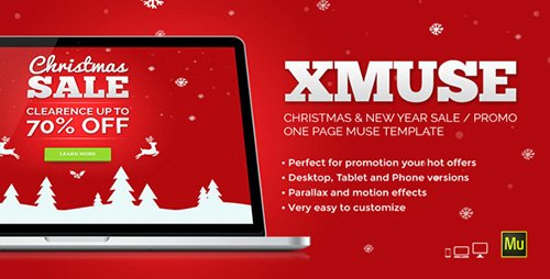 ThemeForest - XMuse - Christmas Sale Promo Muse Template (Update: 30 November 15) - 9437134